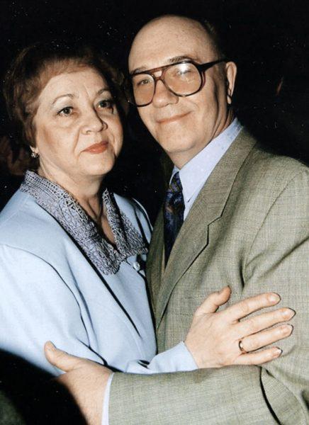 Леонид Куравлёв с женой, фото:interesnyefakty.org