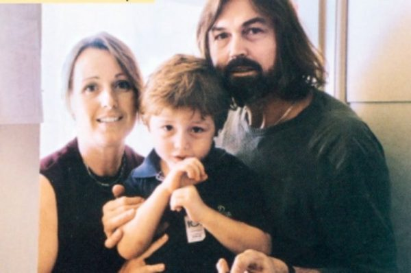 Сафронов с Франческой и сыном Стефано. Фото