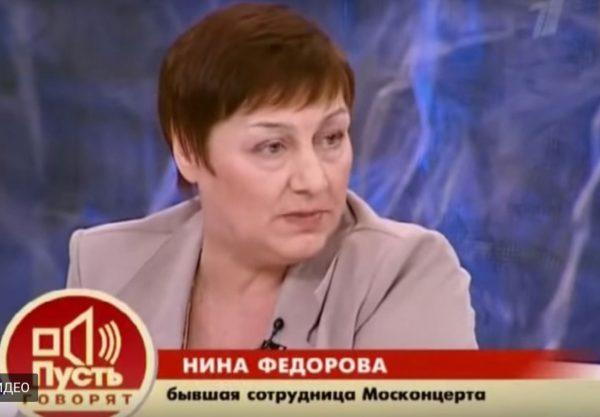 Нина Федорова, кадр из передачи