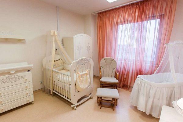 Палата в частном перинатальном центре. Фото mcclinics.ru
