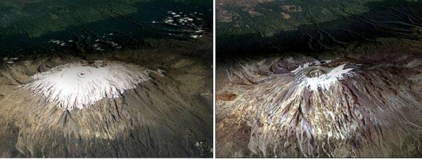 Так поменялись ледники на Килиманджаро за 7 лет. Фото it-s-a-wonderful-world.ru