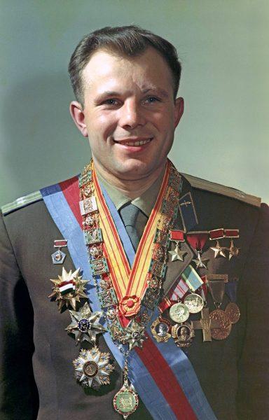 Юрий Гагарин - Герой Советского Союза, дважды Геро соцтруда, Герой Труда. Фото Википедия
