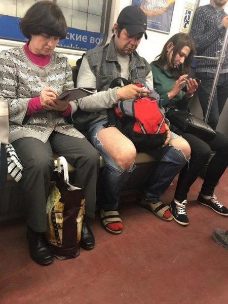 Необычные люди в метро, фото:porosenka.net