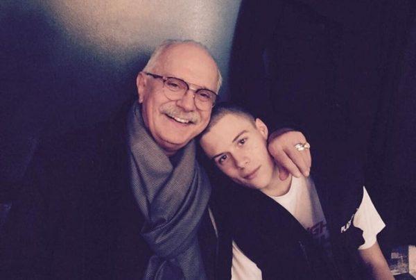 Никита Михалков с внуком