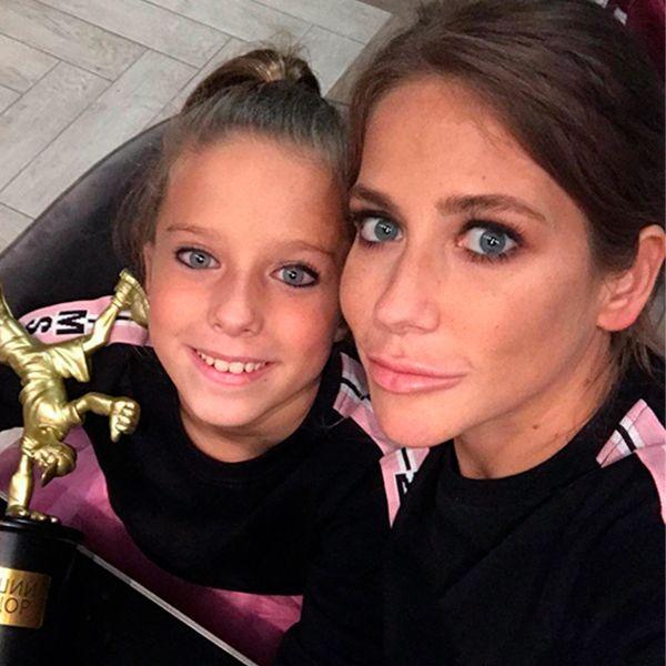 Барановская с дочкой