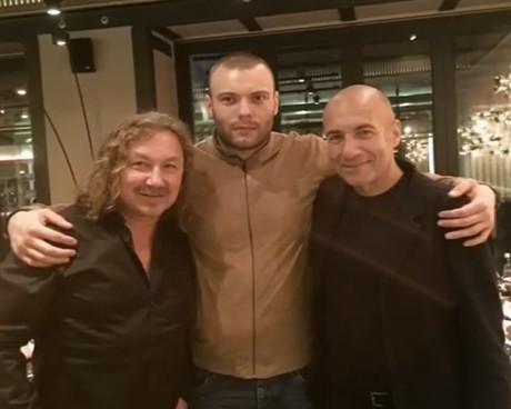 Игорь Крутой с сыном и Николаевым