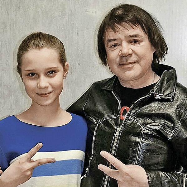 Евгений Осин с приемной дочкой