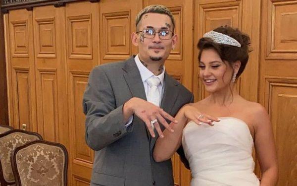 Моргенштерн с женой