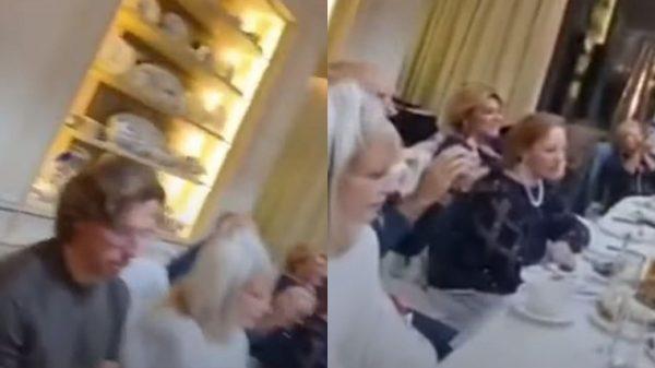 Алла Пугачева и Максим Галкин на юбилее Газманова, фото:5-tv.ru/