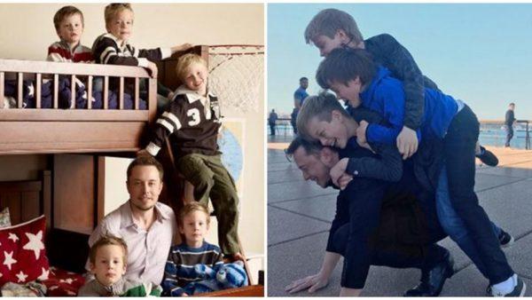 Илон Маск со страшими детьми. Фото ren.tv