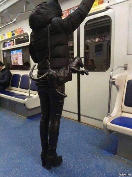 Необычные люди в метро, фото:m.fishki.net