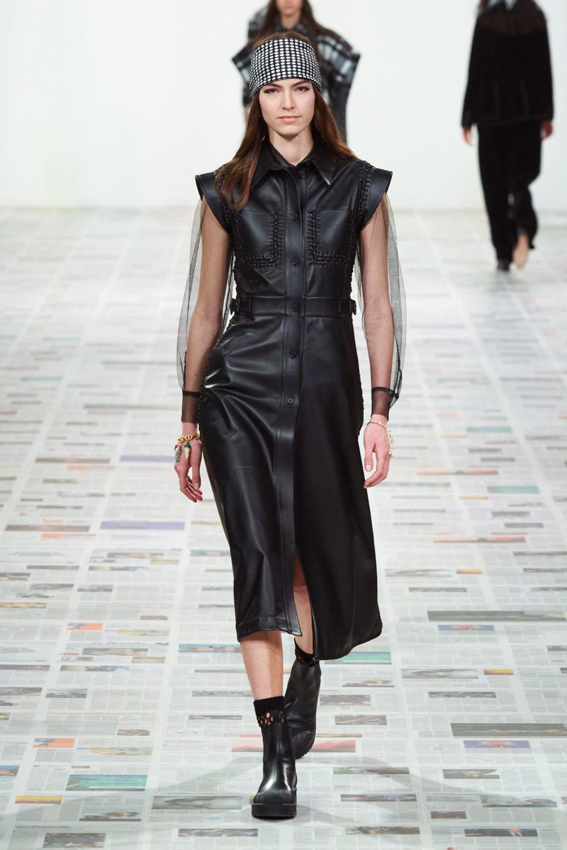 Dresses from leather and eco-leather