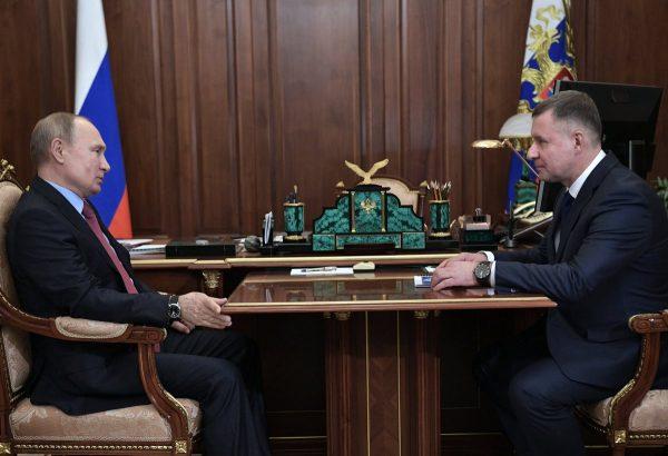 Владимир Путин и Евгений Зиничев