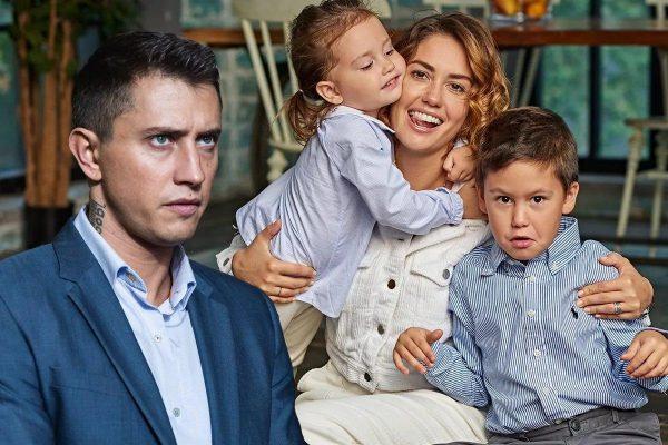 Агата Муцениеце с детьми и Павел Прилучный. Фото tvcenter.ru