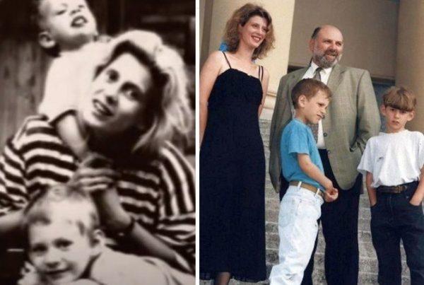 Ирина Метлицкая с мужем и сыновьями