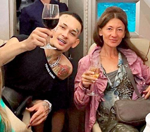Моргенштерн с мамой Мариной Юрьевной