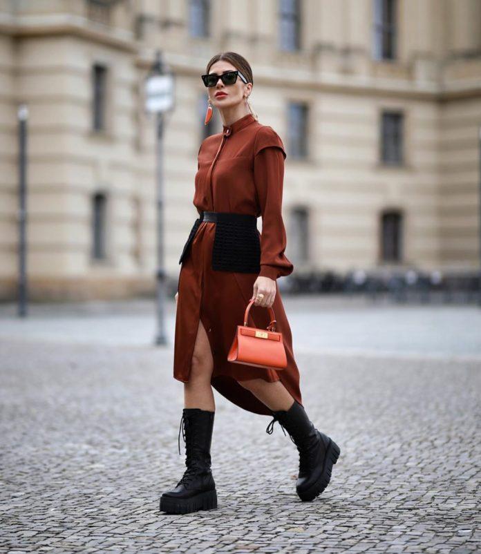 Shirt dress for fall-winter