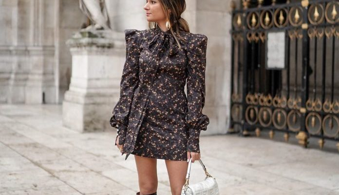 Dresses with ruffles and ruffles