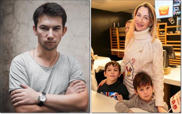 Кирилл Емельянов и бывшая жена актёра с детьми