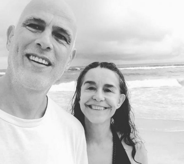 Луселия Сантуш с мужем в 2020 году. Фото Инстаграм