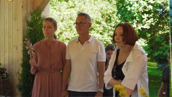 Анастасия Вертинская с сыном и невесткой