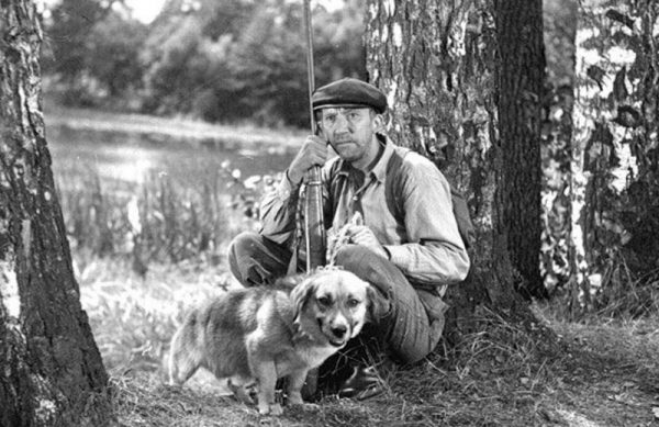 Юрий Никулин с собакой