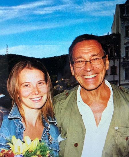 Юлия Высоцкая и Андрей Кончаловский в молодости. Фото Инстаграм