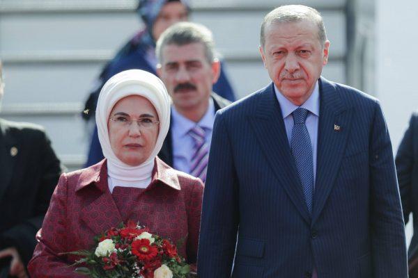 Реджеп Эрдоган с женой