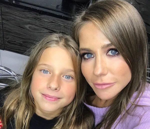 Юлия Барановская с дочерью, фото: