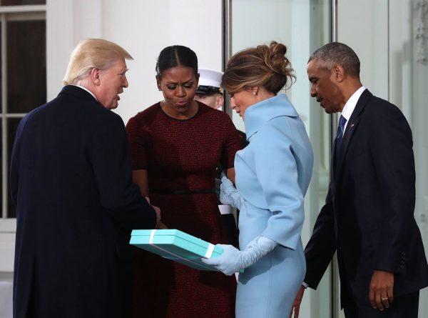 Мелания Трамп и Мишель Обама с мужьями