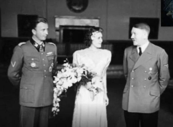 Свадьба Евы Браун и Адольфа Гитлера. Фото biographe.ru