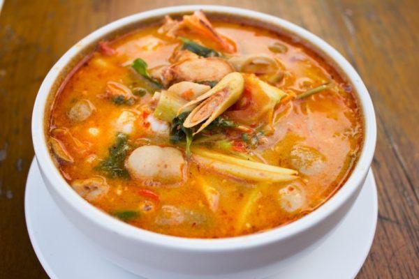Тайский суп Том Ям Кунг, фото: villa carte.com